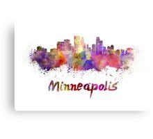 Minneapolis skyline in watercolor Metal Print