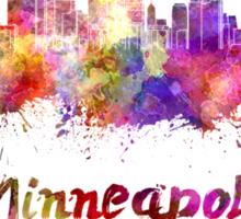 Minneapolis skyline in watercolor Sticker