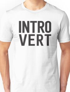 Introvert bold print Unisex T-Shirt