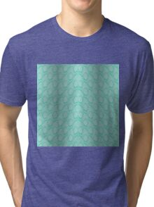 Tiffany Aqua Blue and White Python Snake Skin Reptile Scales Tri-blend T-Shirt