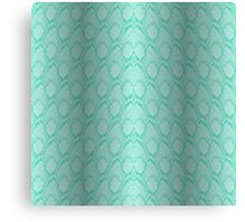 Tiffany Aqua Blue and White Python Snake Skin Reptile Scales Canvas Print