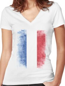 Netherlands Flag Proud Dutch Vintage Distressed Women's Fitted V-Neck T-Shirt