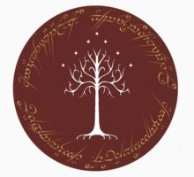 White/Burgundy Tree of Gondor by MapleGLaDOS
