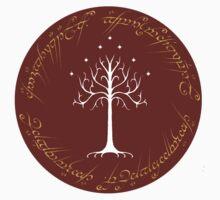 White/Burgundy Tree of Gondor T-Shirt