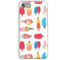 Watercolor ice cream popsicle  iPhone Case/Skin