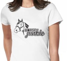 Horse junkie Womens Fitted T-Shirt