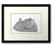 Break up in the mountains Framed Print
