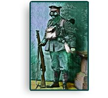 Infantry Soldier in Full Gear Portrait Canvas Print