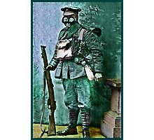 Infantry Soldier in Full Gear Portrait Photographic Print