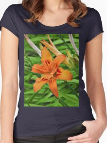 Lilly flower Women's Fitted Scoop T-Shirt