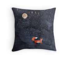 Fox Dream Throw Pillow