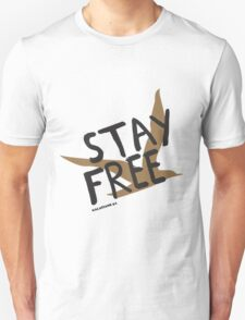 Stay Free Gold Bird Unisex T-Shirt