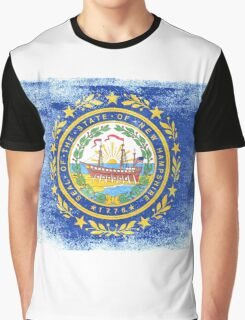 New Hampshire State Flag Distressed Vintage Graphic T-Shirt