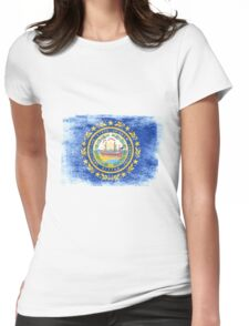 New Hampshire State Flag Distressed Vintage Womens Fitted T-Shirt
