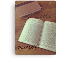 """Loose Yourself""-Vintage Backround Book Print Canvas Print"