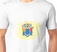 New Jersey State Flag Distressed Vintage Unisex T-Shirt
