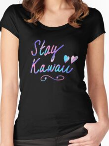Stay Kawaii Women's Fitted Scoop T-Shirt