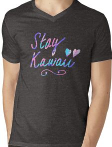 Stay Kawaii Mens V-Neck T-Shirt