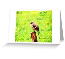 The Bird Painting  Greeting Card