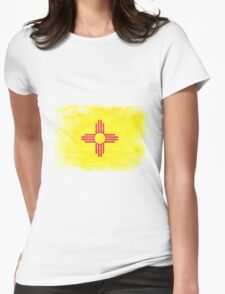 New Mexico State Flag Distressed Vintage Womens Fitted T-Shirt