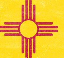New Mexico State Flag Distressed Vintage Sticker