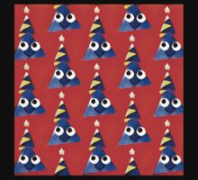 Fun,triangles,red,blue,yellow,white,kid,kids,pattern,happy One Piece - Short Sleeve