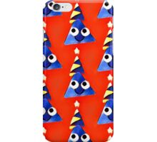 Fun,triangles,red,blue,yellow,white,kid,kids,pattern,happy iPhone Case/Skin
