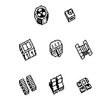 Nether Earth robot parts without title Photographic Print