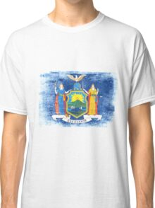 New York State Flag Distressed Vintage Classic T-Shirt
