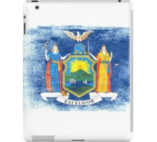 New York State Flag Distressed Vintage iPad Case/Skin