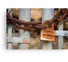 Lock and Chain Canvas Print