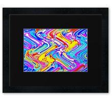 A Trendy Splash of Swirled Watercolor Framed Print