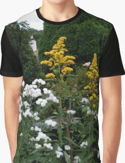 Golden rod and bachelor's buttons Graphic T-Shirt