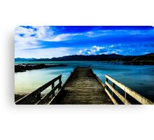 Waihau bay wharf New Zealand Canvas Print