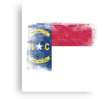 North Carolina State Flag Distressed Vintage  Canvas Print