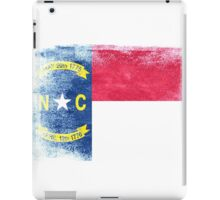 North Carolina State Flag Distressed Vintage  iPad Case/Skin