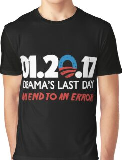Obama's Last Day in Office Graphic T-Shirt