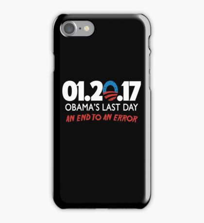 Obama's Last Day in Office iPhone Case/Skin
