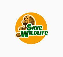 Save Wildlife Emblem with Lion Unisex T-Shirt