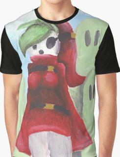 Shy Gal Mario Bros Graphic T-Shirt