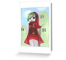 Shy Gal Mario Bros Greeting Card