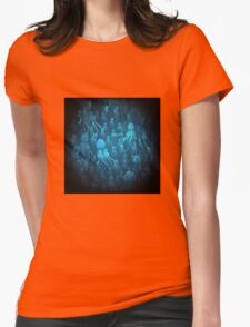 Jellyfishes Under Water Womens Fitted T-Shirt