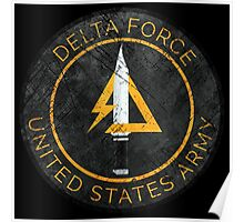 Delta Force Vintage Insignia Poster