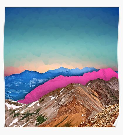 Color Band Mountains Poster