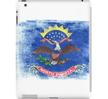 North Dakota State Flag Distressed Vintage iPad Case/Skin