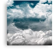 Time clouds Canvas Print