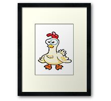Cute Chicken Framed Print
