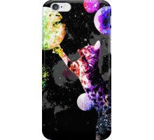 Space Cat with Planets iPhone Case/Skin