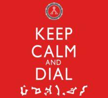 Keep Calm and Dial Earth (white) Kids Tee