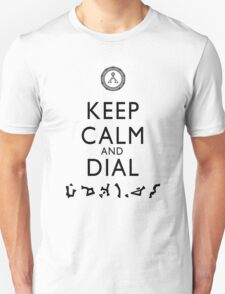 Keep Calm and Dial Earth (black) Unisex T-Shirt
